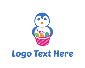 Playful - Ice Cream Rolls logo design