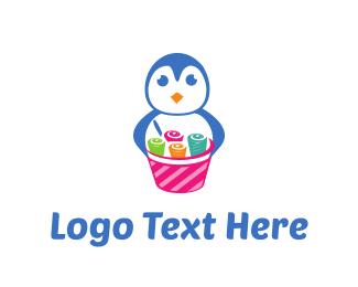 Frozen Yogurt - Ice Cream Rolls logo design