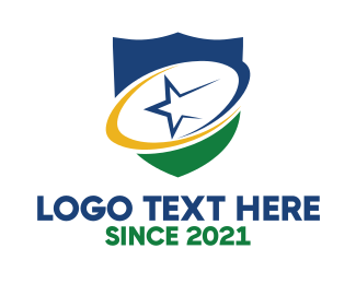 Rugby League - Abstract Star Shield logo design