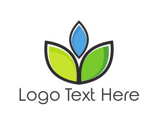 Agribusiness - Blue Flower logo design