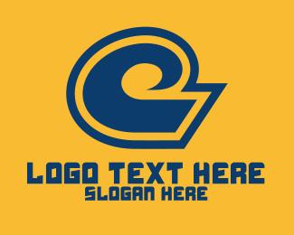 Letter C - White Wave logo design
