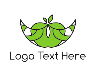 Fruity - Apple Boat logo design