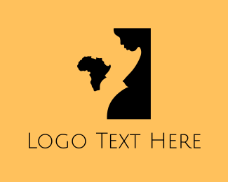 Africa - Pregnant Africa logo design