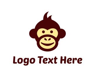 Gorilla - Monkey Cartoon logo design