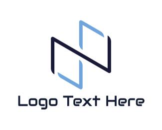 Cyber Security - Blue Infinity Symbol logo design