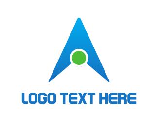 Cursor - Letter A Triangle logo design