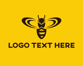 Warning - Shield Insect logo design