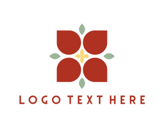 Mexican - Red Poinsettia logo design