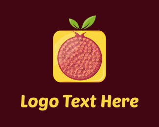 Fresh - Red & Yellow Pomegranate  logo design