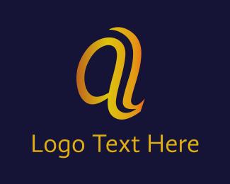 Relaxing - Golden A logo design