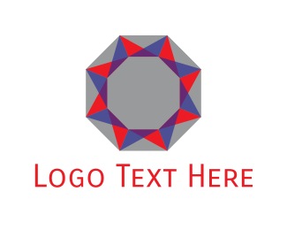 Octagon - Star Diamond  logo design