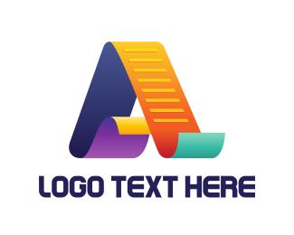 Document - Colorful File logo design