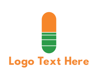 Pharma - Medical Capsule logo design