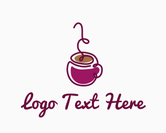 Hot Chocolate - Purple Coffee logo design