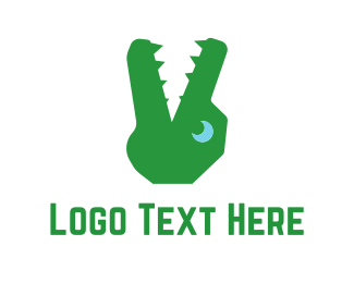 Darwin - Green Alligator logo design