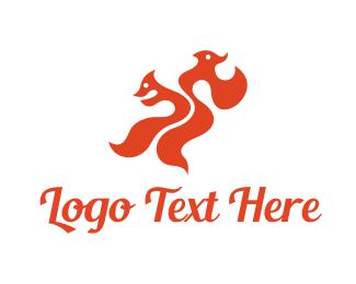 Life - Dual Fox logo design