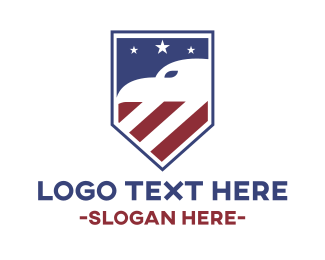 Airline - American Eagle Shield logo design