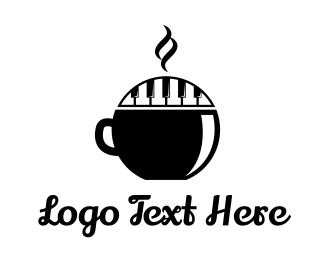 Coffee - Piano Keys Coffee logo design