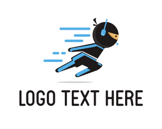 Agent - Fast Ninja logo design