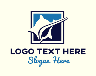 Snail - Professional Blue Shell logo design