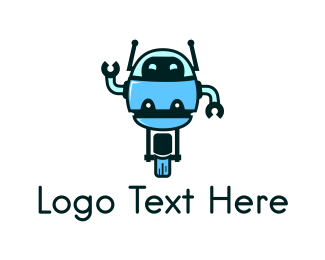 Antenna - Unicycle Robot logo design