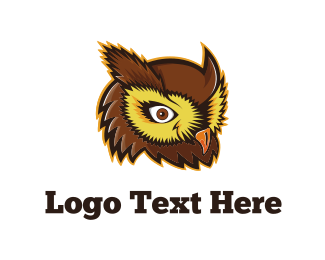 College - Owl Mascot logo design