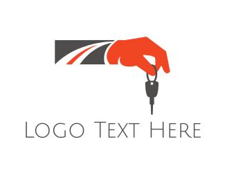 Trip - Road Key logo design