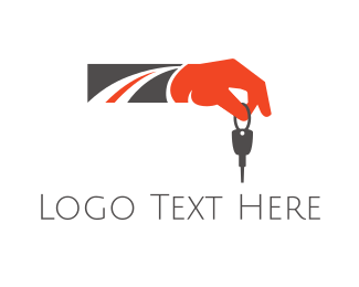 Car Rental - Road Key logo design