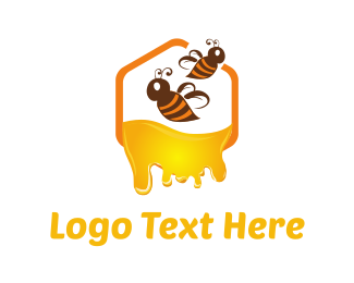 Honeybee - Honey & Bees logo design
