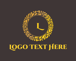 Antique - Gold Circle logo design