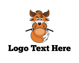 Chipmunk - Armed Fox logo design