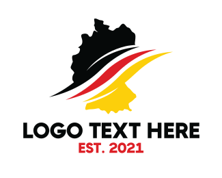 Country - Germany Stroke logo design