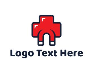 Medical Centre - Medicine Magnet logo design