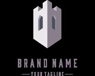 Fortress - Concrete Tower logo design