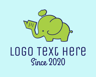 Baby - Green Elephant logo design