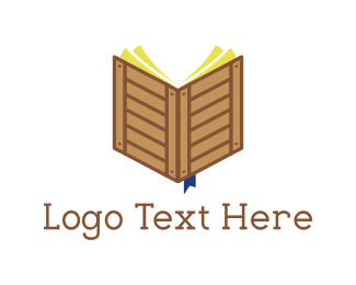 Notebook -  Crate Book logo design