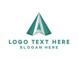Pyramid - Green Diamond logo design