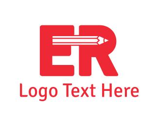 Pencil E & R Logo