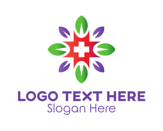 Red Cross - Flower Cross logo design