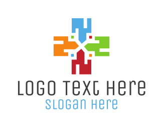 Digital Marketing - Digital Cross logo design