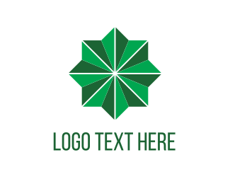 Shape - Green Star logo design