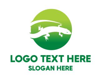 Lizard - Reptile Circle logo design