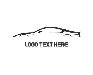 Racing - Black Car logo design