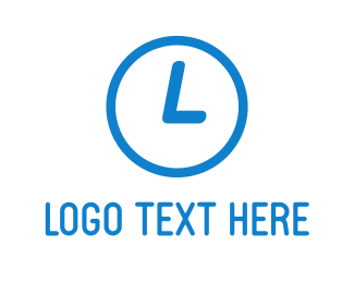 Timeless - Blue Clock logo design