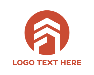 Services - Red Abstract Roof Patch logo design