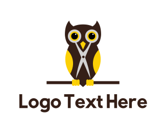 Tailor - Barber Owl logo design