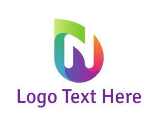 Drop - Colorful N Drop logo design