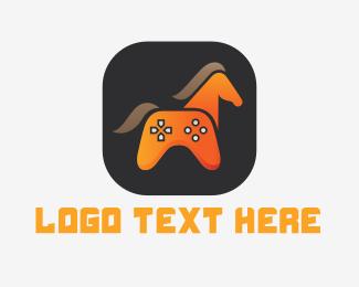 Bronco - Horse Gamer logo design