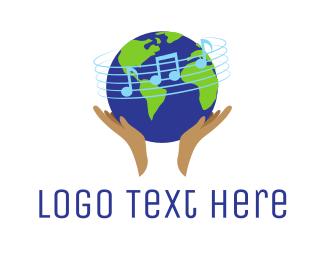 Music - Global Music School logo design