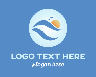 Surfer - Ocean Waves logo design